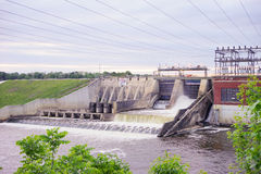 A Dam in indiana Royalty Free Stock Images