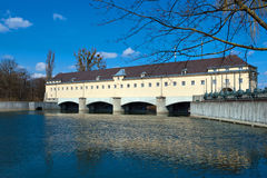 Dam on the Isar Royalty Free Stock Images