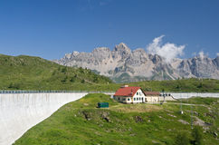 Dam in Italian alps Royalty Free Stock Photography