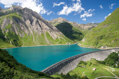 Dam in italian Alps Royalty Free Stock Image