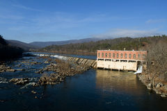 Dam on the James Royalty Free Stock Photography
