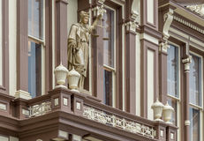 Dam Justice på den Storey County domstolsbyggnaden Royaltyfri Bild