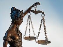 Dam Justice - Temida - Themis Arkivfoto