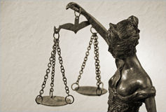 Dam Justice - Temida - Themis Royaltyfri Fotografi