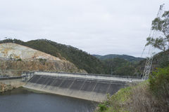 Dam, Kangaroo Creek Reservoir, Adelaide Hills, South Australia Royalty Free Stock Photography