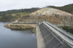 Dam, Kangaroo Creek Reservoir, Adelaide Hills, South Australia. The dam at Kangaroo Creek Reservoir in the Adelaide Hills, bordering Castambul and Paracombe stock photography