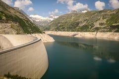 Dam. Kaprun dam wall-the highest power plant in Austria Royalty Free Stock Photo