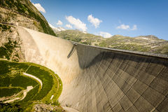 Dam. Kaprun dam wall-the highest power plant in Austria Royalty Free Stock Photos