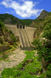 Dam wall Bulgarian mountains Stock Image