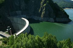 Dam on lake Royalty Free Stock Photography