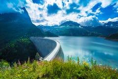 Dam at Lake Emosson near Chamonix (France) and Finhaut (Switzerland) Stock Image
