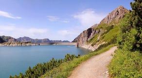 Dam lake lunersee, austira Stock Photography