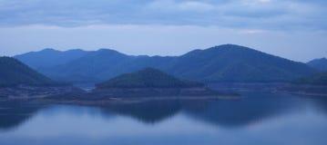 The dam on the lake Mae Kuang Dam, Thailand, Chiang mai Royalty Free Stock Image