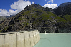 Dam of Lake Mauvoisin Royalty Free Stock Photo
