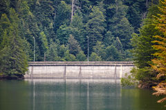 Dam lake in the mountains Royalty Free Stock Images