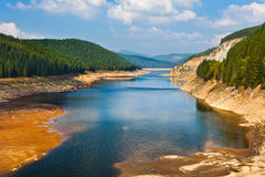 Dam lake Oasa in Romanian mountains Royalty Free Stock Photography