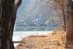 Dam on the lake Royalty Free Stock Photos