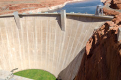 Dam on Lake Powell Stock Photography