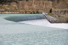 Dam at Lake Pukaki (New Zealand) Stock Photos
