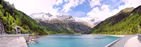 A dam lake in South Tyrol Royalty Free Stock Photography