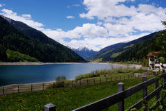 A dam lake in South Tyrol Stock Photo