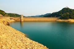 The dam and lake sunset Stock Image
