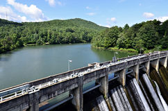 Dam on a Lake Royalty Free Stock Images