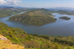 Dam lake valley of Ketios river Bergama Izmir Province Turkey Royalty Free Stock Photography