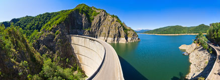Dam lake Vidraru, Romania Royalty Free Stock Photo