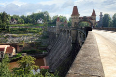 Dam Les Kralovstvi in Bílá T�emešná, Czech Republic Stock Photos
