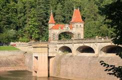 Dam Les Kralovstvi in Bílá T�emešná, Czech Republic Stock Images