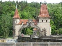 The dam les kralovstvi. Beautiful historic dam les kralovstvi in the czech republic stock images