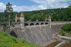 The dam les kralovstvi. Beautiful historic dam les kralovstvi in the czech republic Stock Photo