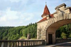 Dam Les Kralovstvi in Bílá Třemešná, Czech Republic Stock Images