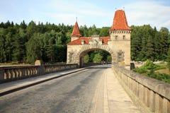 Dam Les Kralovstvi in Bílá Třemešná, Czech Republic Royalty Free Stock Photo