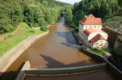 Dam Les Kralovstvi in Bílá Třemešná, Czech Republic Royalty Free Stock Photography