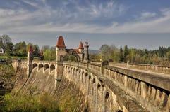 The dam Les Kralovstvi. Historic dam Les Kralovstvi in Bila Tremesna, one of the oldest in the Czech Republic Royalty Free Stock Photo