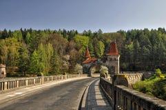 The dam Les Kralovstvi. Historic dam Les Kralovstvi in Bila Tremesna, one of the oldest in the Czech Republic Stock Photography