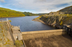 Dam of the Llyn Brianne Reservoir Stock Photography