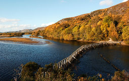 The Dam at Loch Fleet Stock Image