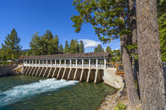 Dam, Locks, Outlet, River Stock Image
