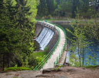 Dam on the Lomnica River Royalty Free Stock Photos