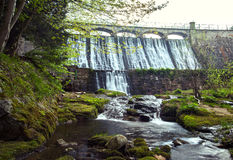 Dam on the Lomnica River Stock Photos