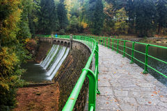 Dam on Lomnica River in Karpacz Royalty Free Stock Photos