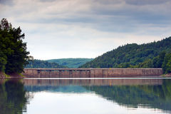 Dam at lubachowskie lake Stock Images
