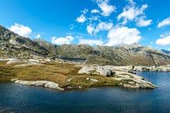 Dam of Lucendro, Gotthard Pass, Canton of Ticino (Switzerland) Royalty Free Stock Photos