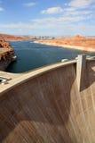 Dam in Meer Powell stock afbeelding