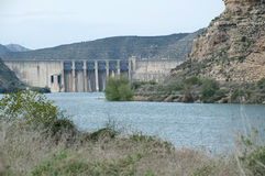 Dam of Mequinenza Reservoir Stock Images