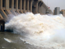 Dam of the Merowe hydroelectric power station Royalty Free Stock Photography