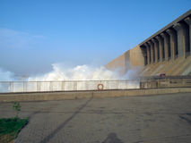 Dam of the Merowe hydroelectric power station Stock Photography